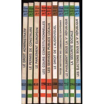 Lot de 10 livres Que sais je PUF droit politique
