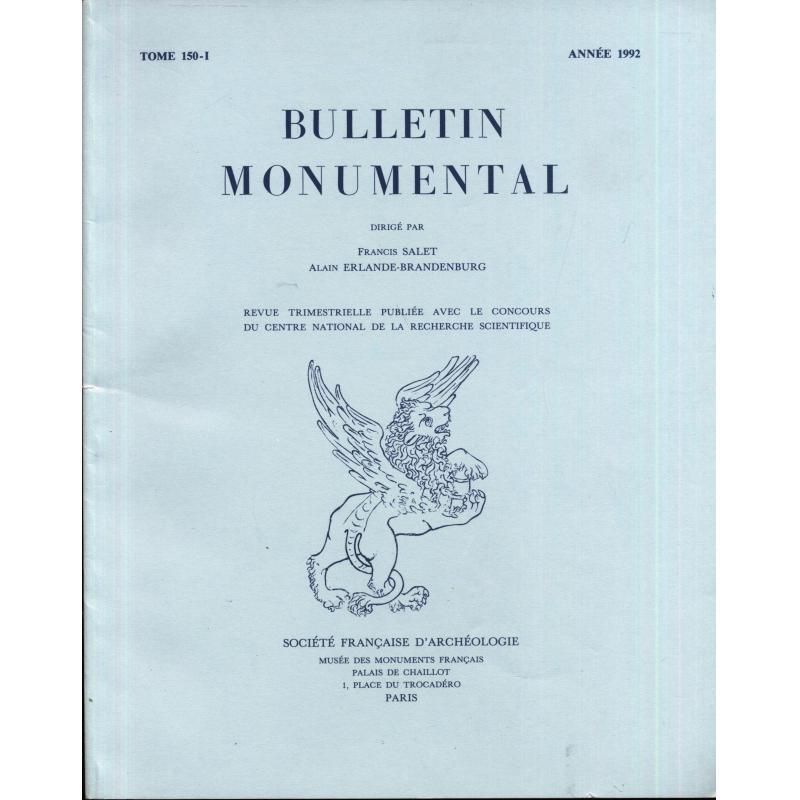 Lot de 13 revues Bulletin monumental Société française d'Archéologie 1975-1992