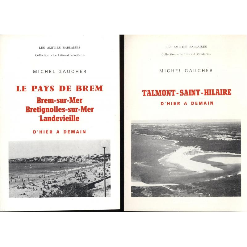 Lot de 19 brochures de la collection le littoral vendéen