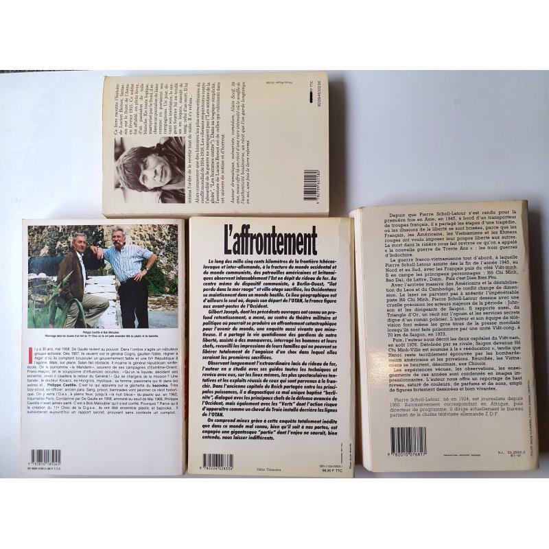 Lot de 4 livres de périodes différentes 14-18 Vietnam Algérie guerre froide