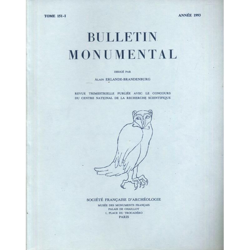 Lot de 4 numéros 1993 Bulletin monumental n°151-1 à 4