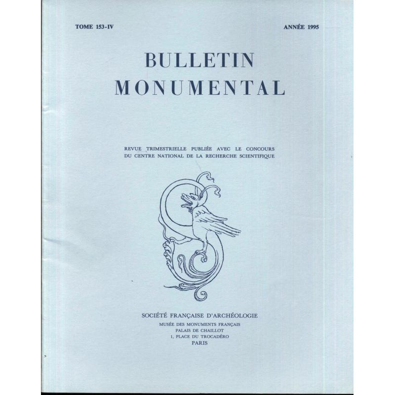Lot de 4 numéros 1995 Bulletin monumental n°153-1 à 4