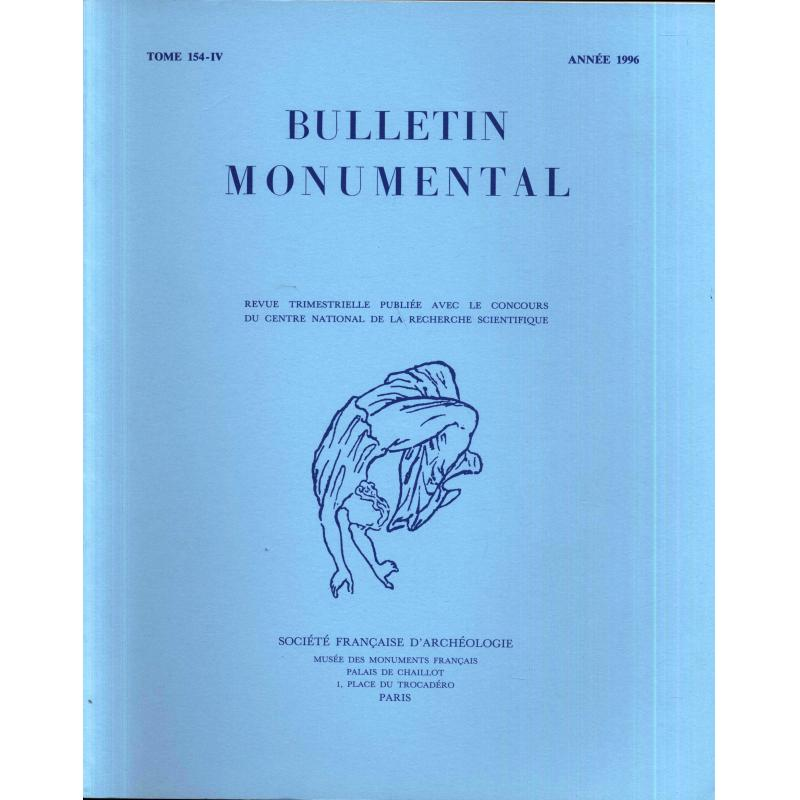 Lot de 4 numéros 1996 Bulletin monumental n°154-1 à 4