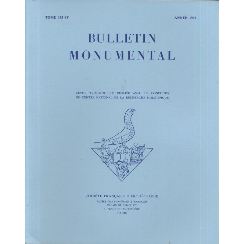 Lot de 4 numéros 1997 Bulletin monumental n°155-1 à 4