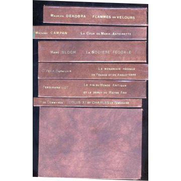 Lot de 7 livres reliés Charroux, Lot, Dutaillis, Bloch..