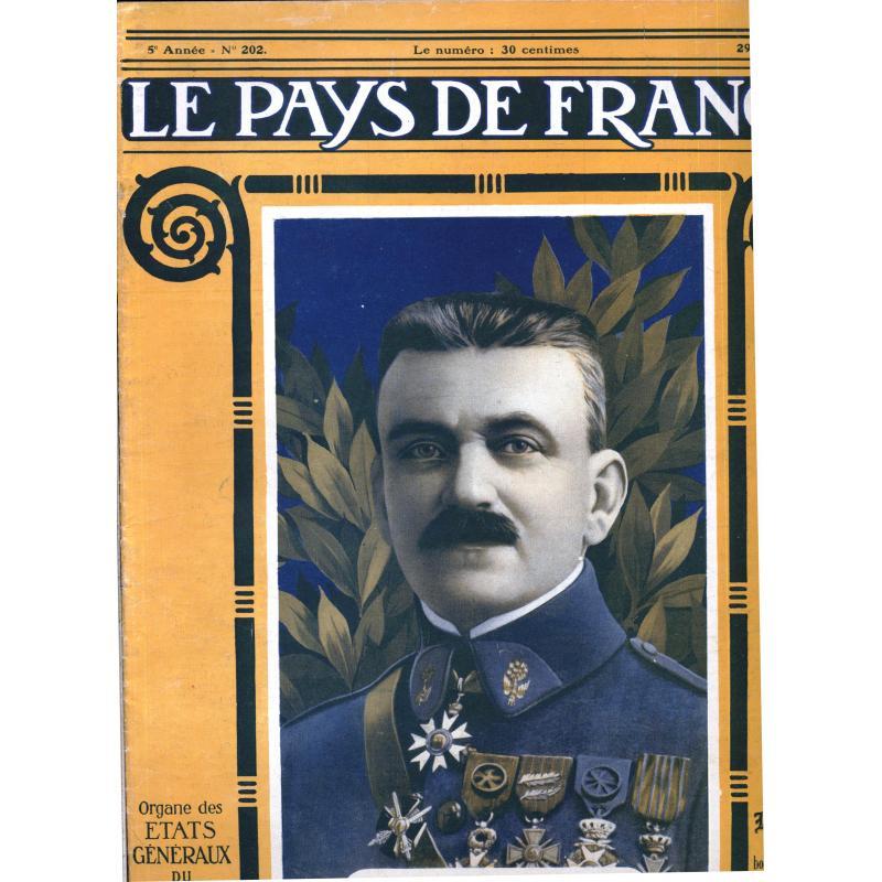 Lot de 98 numeros Le Pays de France 1918 du n° 20 au n° 210