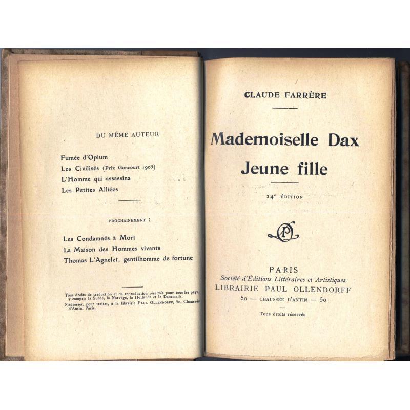 Mademoiselle Dax jeune fille