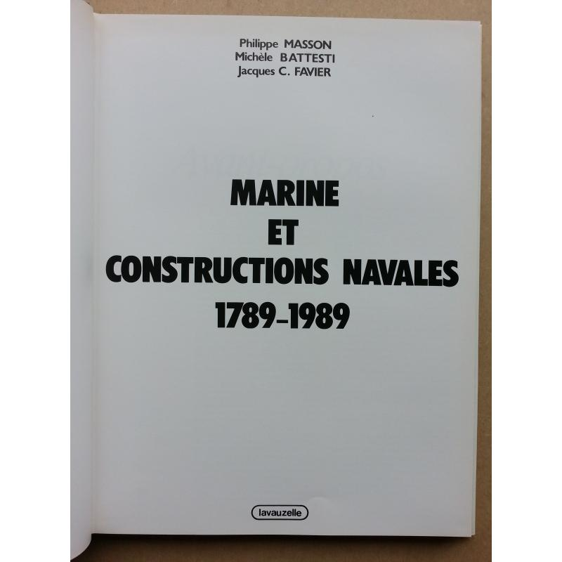 Marine et constructions navales 1789-1989