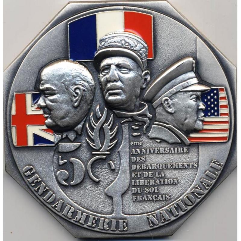 Médaille 50e anniversaire des débarquements et de la libération du sol français