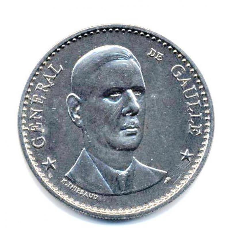 Médaille du Général de Gaulle sans verso
