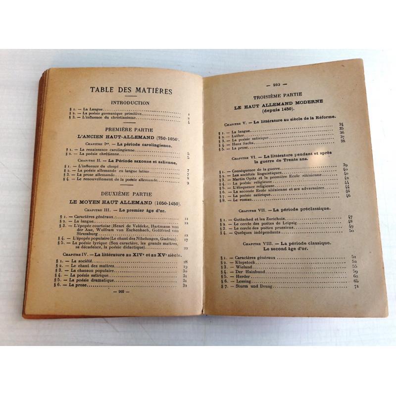 Mémento d'histoire de la littérature allemande - port gratuit