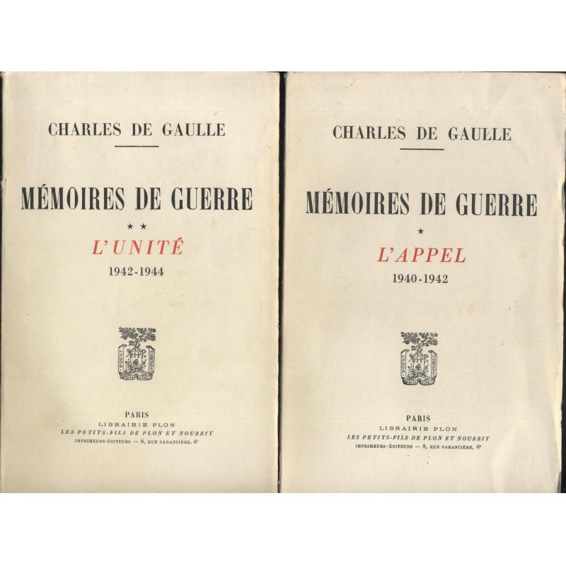 Mémoires de guerre 3 tomes appel unité salut 1940-1946 numéroté réservé aux ACVG