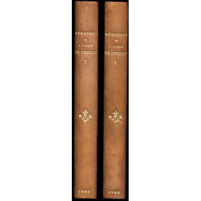 Mémoires de l'Abbé de Choisy pour servir à l'histoire de Louis XIV, 2 tomes