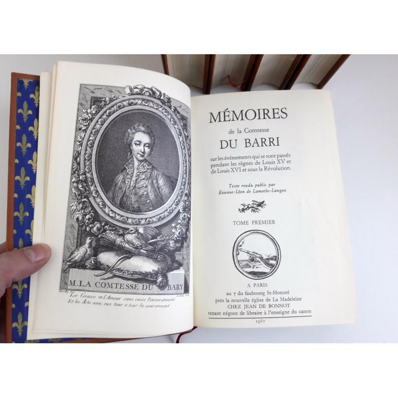 Mémoires de la Comtesse du Barri sur les evenements qui se sont passes 5 tomes