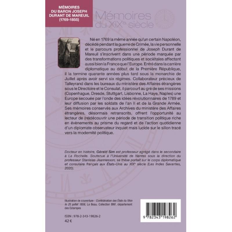 Mémoires du baron Joseph Durant de Mareuil (1769-1855)
