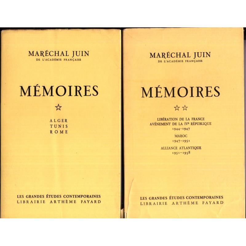 Mémoires du Maréchal Juin 2 tomes
