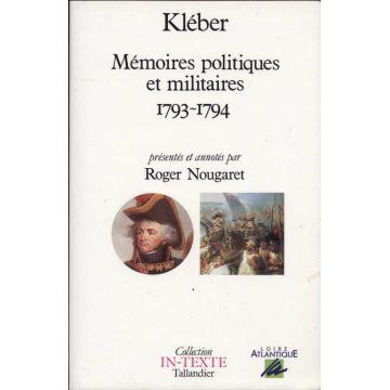 Memoires politiques et militaires 1793-1794
