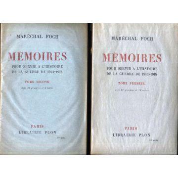 Mémoires pour servir à l'histoire de la guerre de 1914-1918, 2 tomes