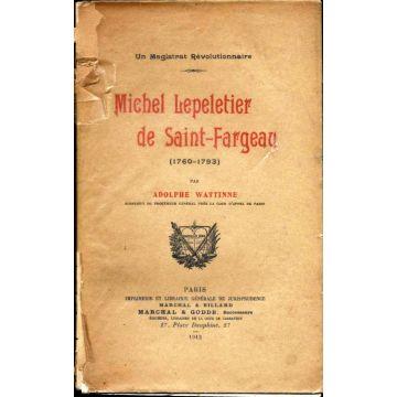 Michel lepeletier de Saint Fargeau (1760 - 1793)