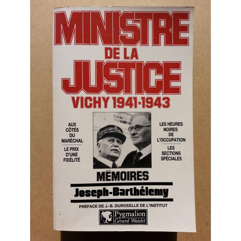 Ministre de la justice Vichy 1941-1943 avec carte de visite auteur