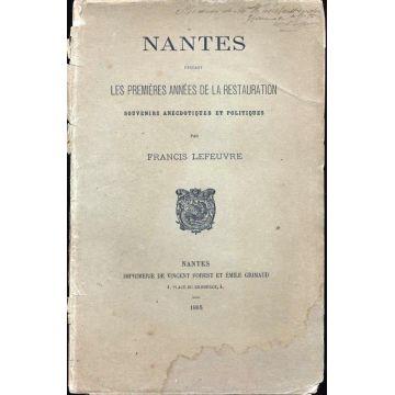 Nantes pendant les 1ere années de la restauration
