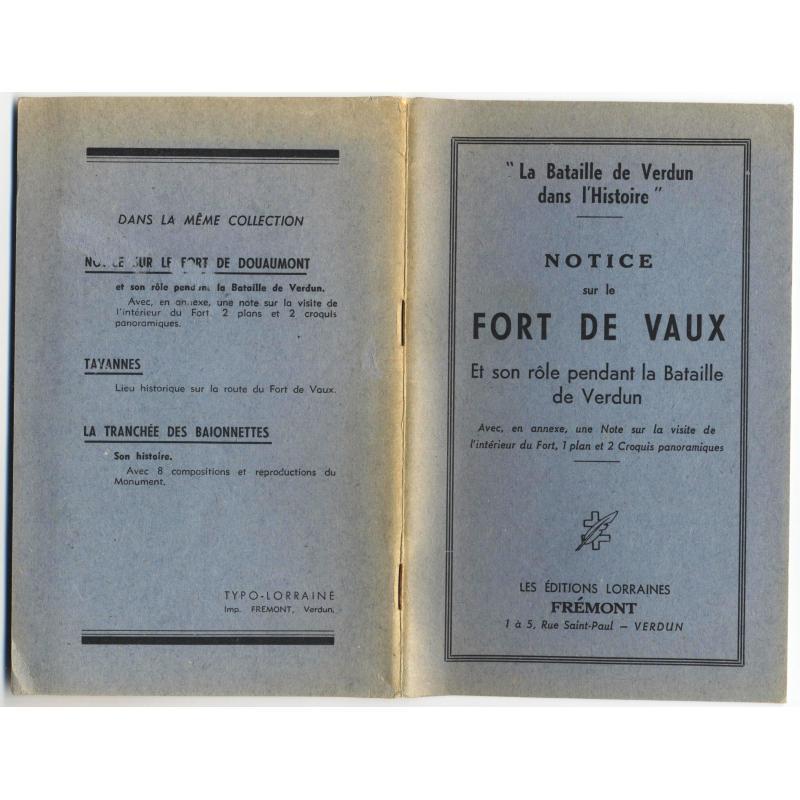 Notice sur le fort de Vaux
