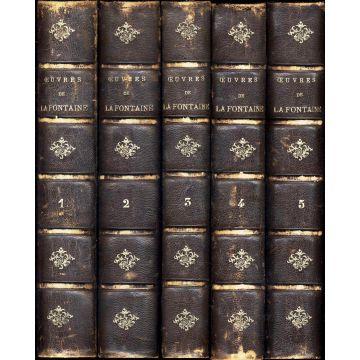 Oeuvres complètes de La Fontaine Tome I, II, III, IV et V