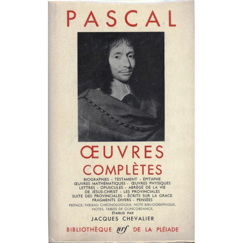 Oeuvres completes de Pascal La Pléiade