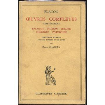 Oeuvres complètes de Platon tome 3