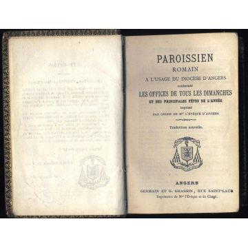 Paroissien romain à l'usage du diocèse d'Angers