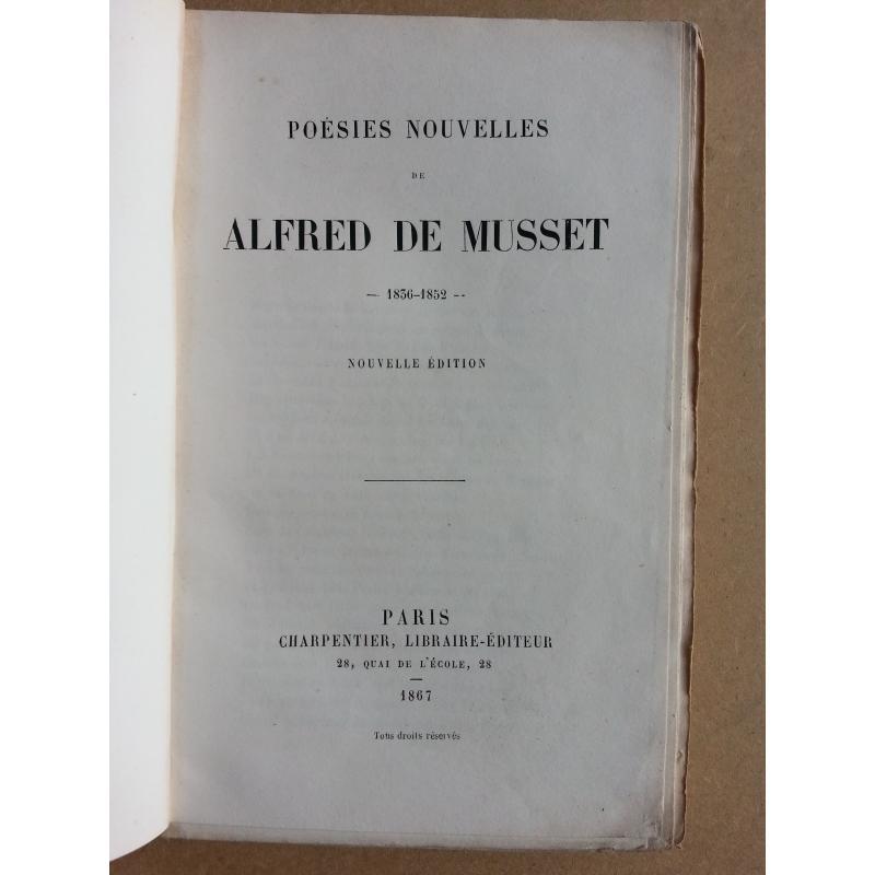 Poesies nouvelles 1836 à 1852