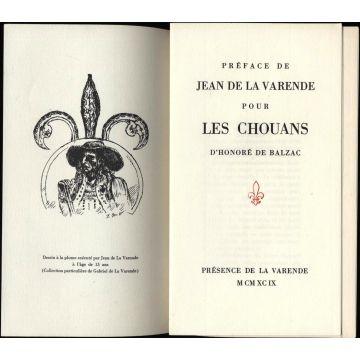 Preface de Jean de la Varende pour les Chouans de Balzac