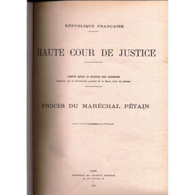 Procès du maréchal Pétain