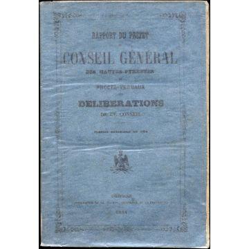 Rapport du Préfet au conseil general des Hautes-Pyrénées et procès-verbaux des délibérations de ce conseil 1854
