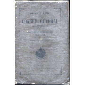 Rapport du prefet au conseil general des Hautes-Pyrénées et PV 1866