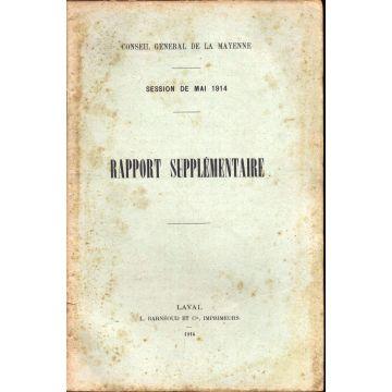 Rapport supplémentaire session de mai 1914 Mayenne