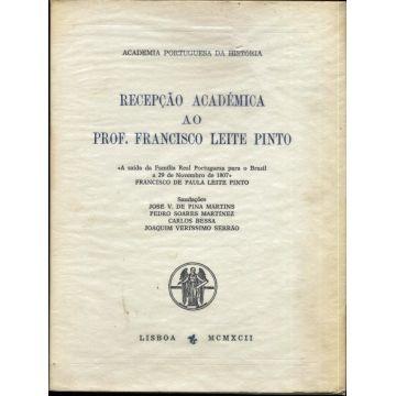 Recepçao Academica ao Prof. Francisco Leite Pinto