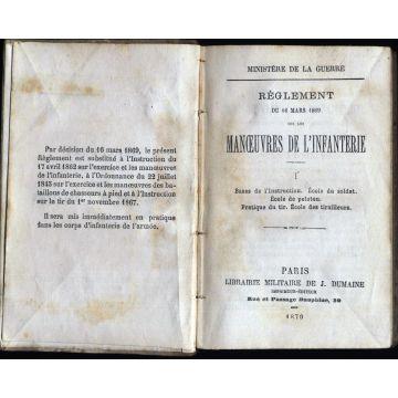 Règlement du 16 mars 1869 sur les manoeuvres de l'infanterie
