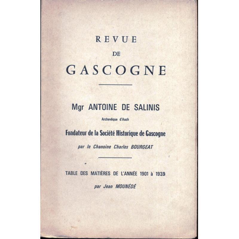 Revue de Gascogne Mgr Antoine de Salinis