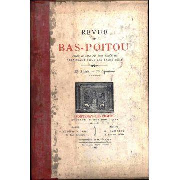 Revue du bas-Poitou 1940 4 numeros