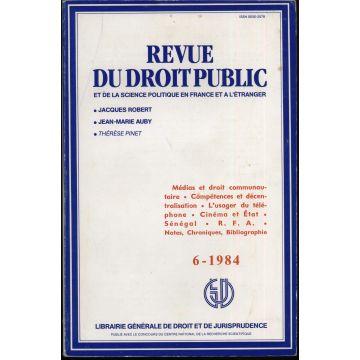Revue du Droit Public n°6