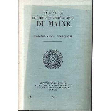 Revue historique et archeologique du Maine 3e serie tome 4