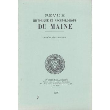 Revue historique et archeologique du Maine 3e serie tome 7