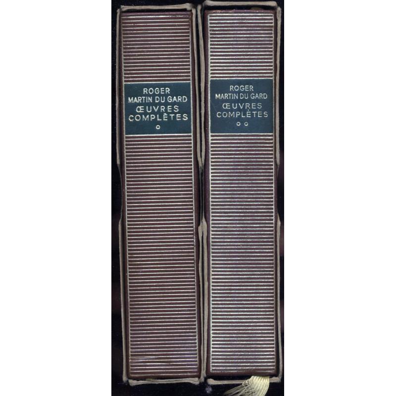 Roger Martin du Gard La pleiade NRF 2 tomes avec étuis