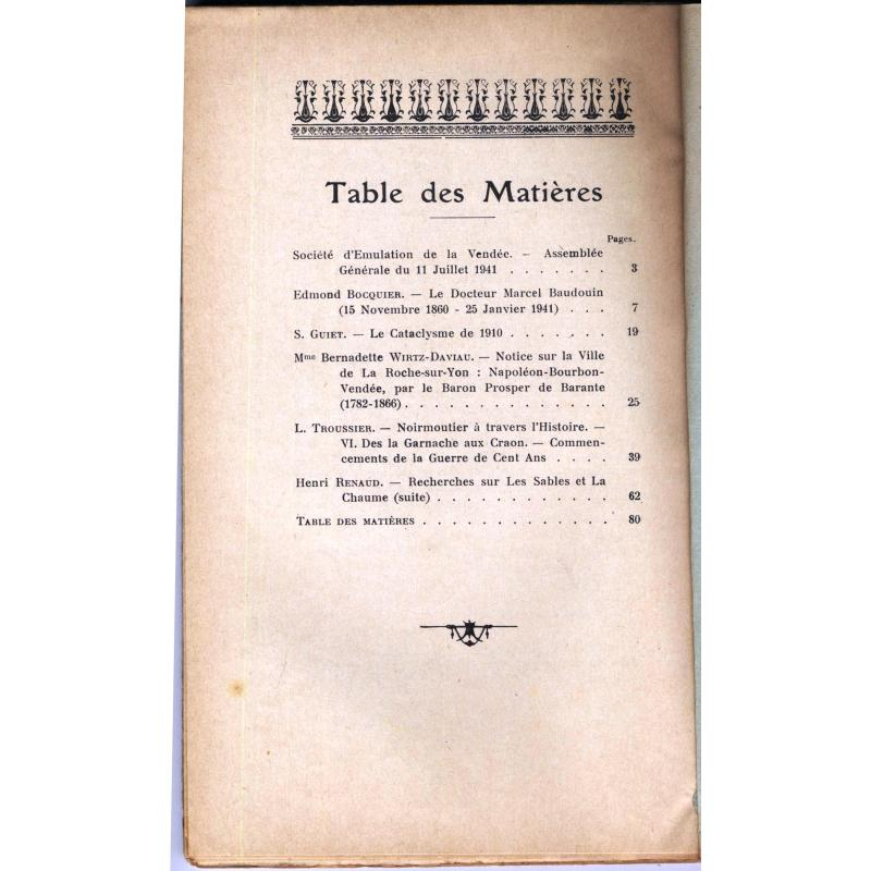 Société d'émulation de la Vendée 1941