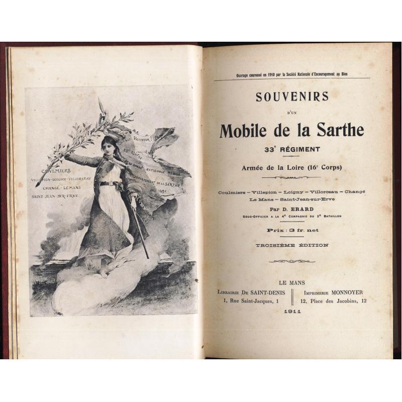 Souvenirs d'un Mobile de la Sarthe 33e régiment