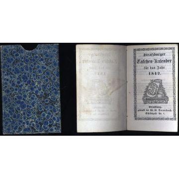 Strassburger Taschen-Kalender fur das Jahr 1842 en ALLEMAND