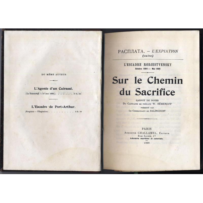 Sur le chemin du sacrifice, l'escadre Rodjestvensky 1904-1905