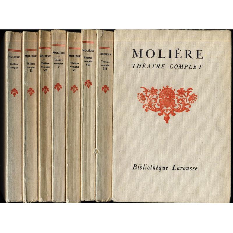 Théâtre complet de Molière en 8 tomes