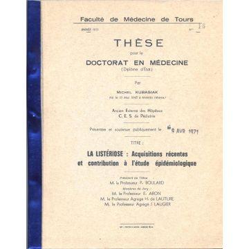 Thèse pour le Doctorat en Médecine, La Listériose ...